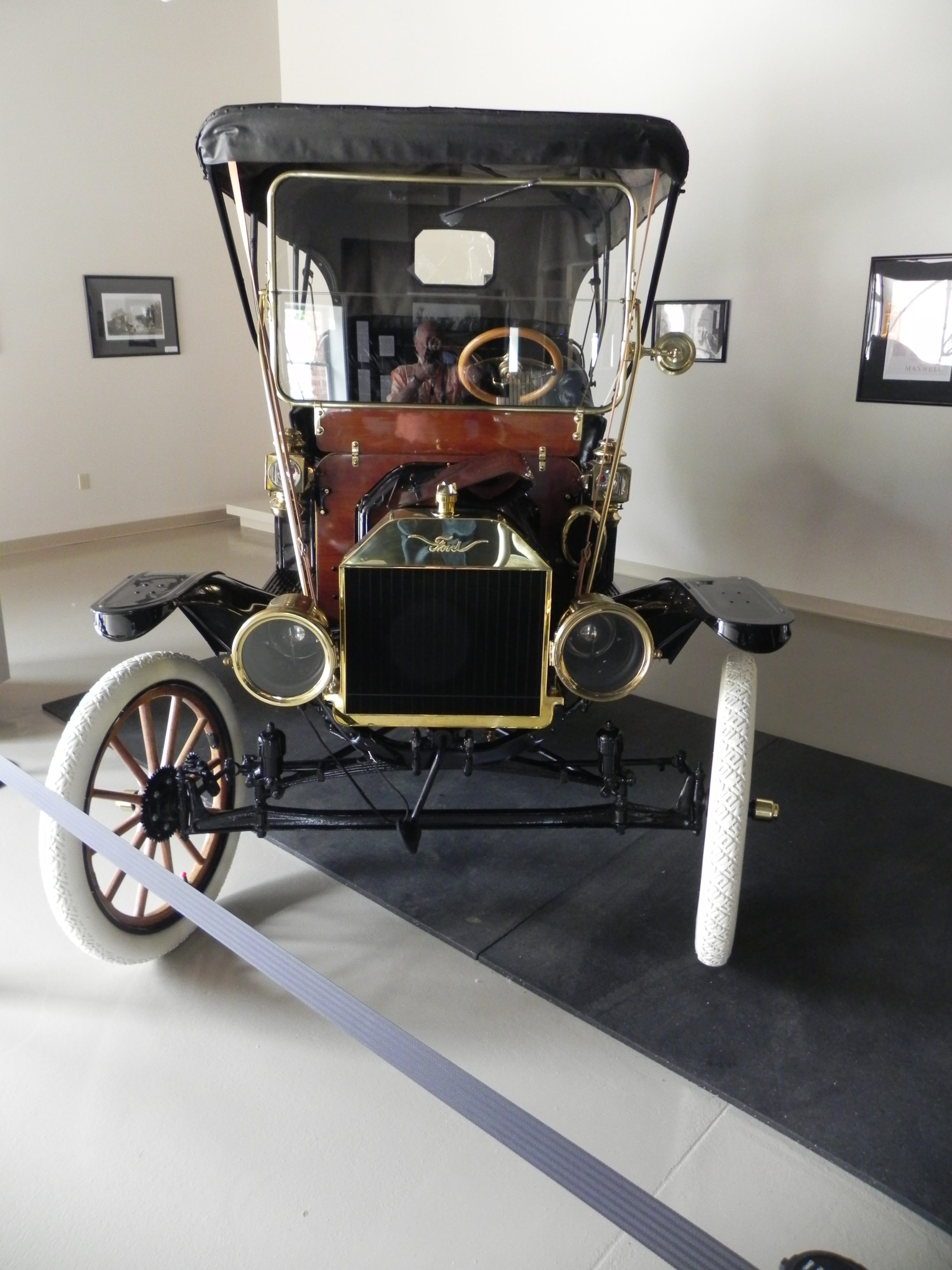 Why a 1910 Model T is in a railway museum.