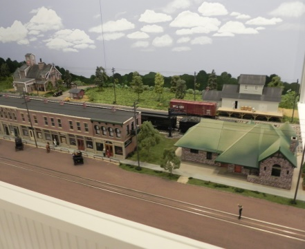 The model train layout is a delight for young and old alike with a recreation of the North side of Michigan Avenue as it was from 1900 to 1910. Complete with a Michigan Central Railroad line behind the buildings that were in place at the time, with a replica of Car #47 as it runs back and forth through the downtown area of Grass Lake.